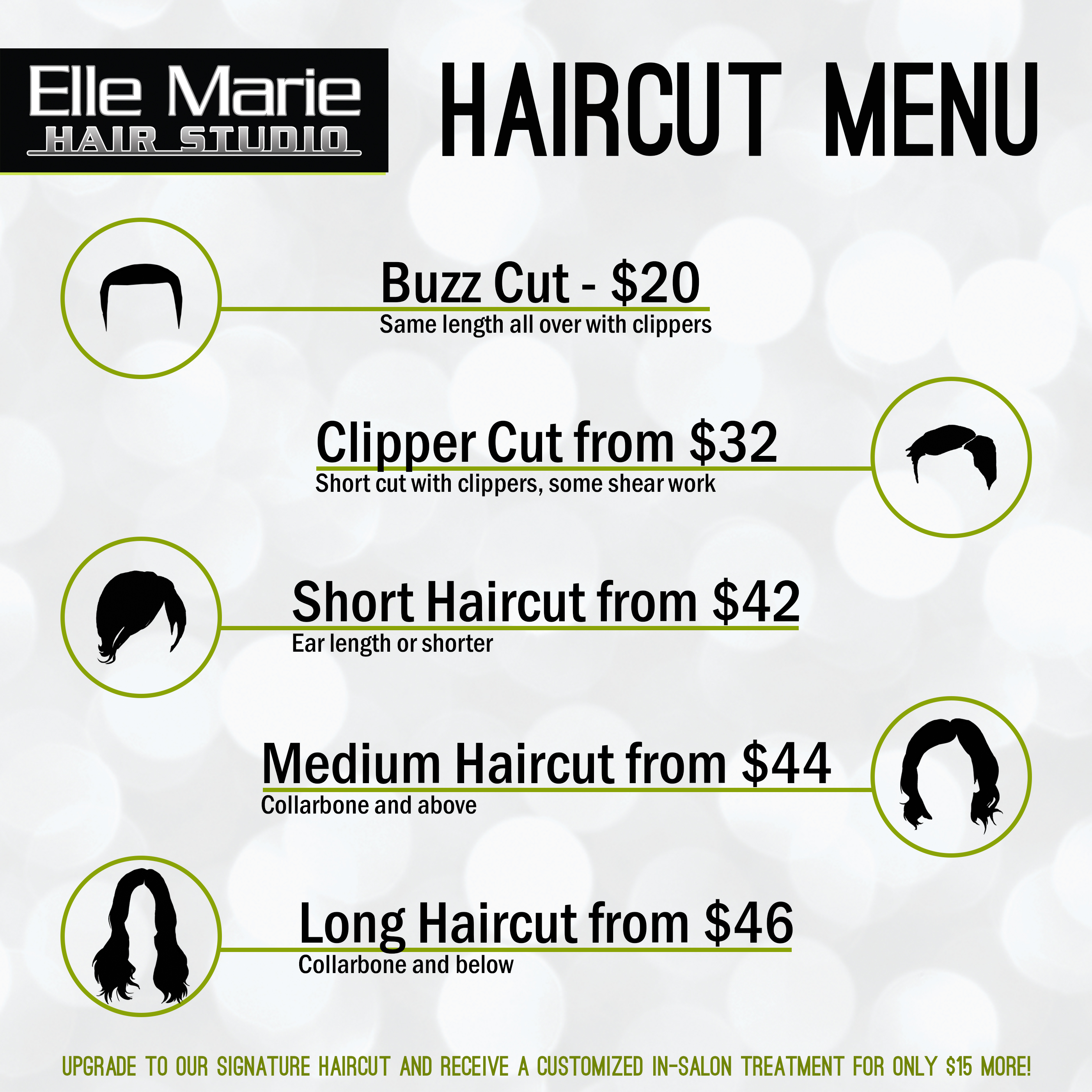 Announcing New Simplified Haircut Pricing Elle Marie Hair Studio